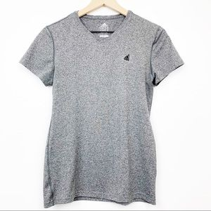 Adidas Climalite Gray Top Athletic Wear Active Med